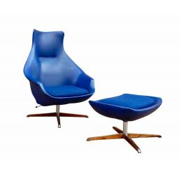 Pair of rare Peter Hoyte Lounge Chairs 1960s with footstool