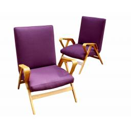 Pair of bentwood armchairs by Tatra N√°bytok 1950's