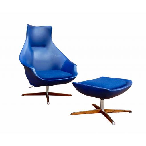 Rare Peter Hoyte lounge chair with footstool, 1960's. - SOLD