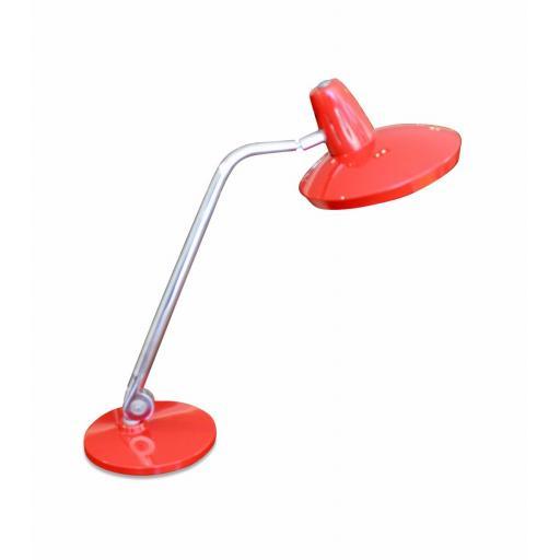 Vintage red 'Fase' desk lamp
