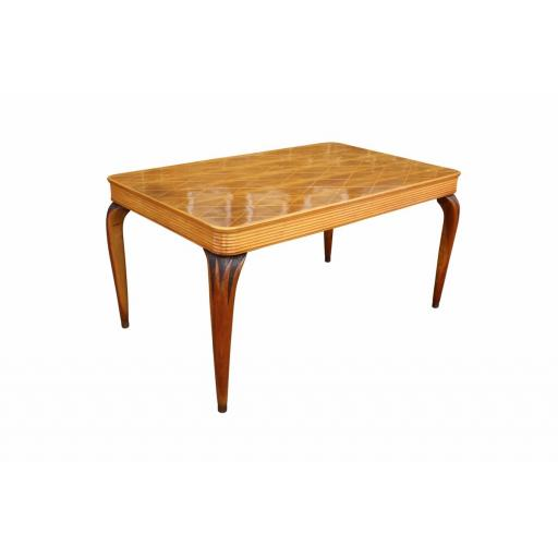 Italian 1950's Dining table by Paolo Buffa with inlaid details
