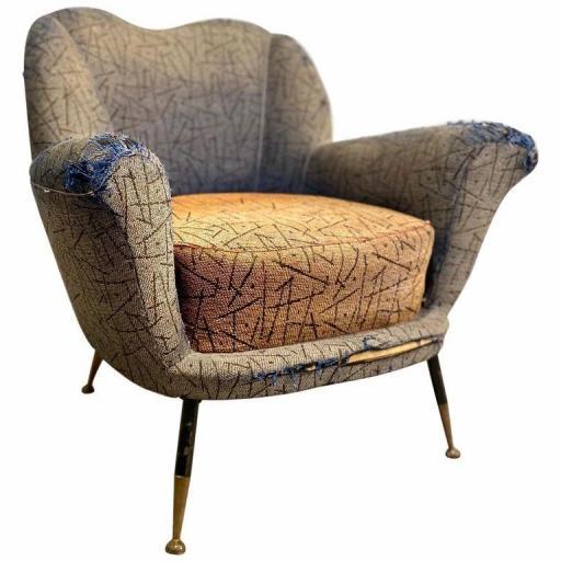1950s Italian armchair by Poltrona Frau mid century