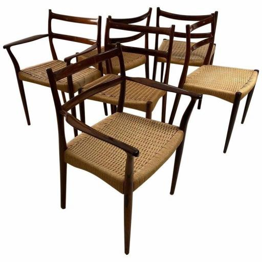 Danish Rosewood Dining Chairs by Soren Lodefoged for Mobler 1960s, Set of Six - SOLD