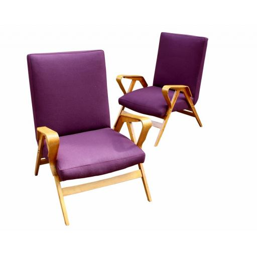 Pair of bentwood armchairs by Tatra Nabytok 1950's