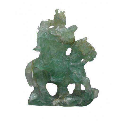 Antique oriental fluorite figure carving sculpture carving