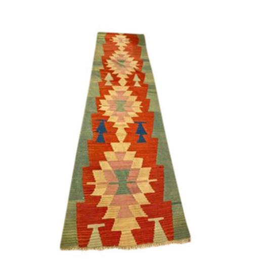 Traditional vintage Afghan Kilim Hall Runner from Afghanistan