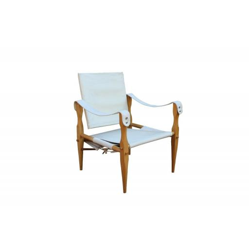 1960's 'Safari' chair Wilhelm Kienzle canvass seat, back and a beech frame