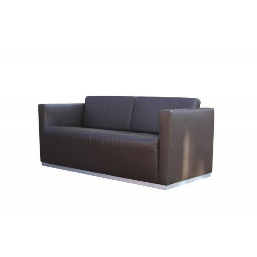 Walter Knoll 'Elton' Sofa Dark Brown Leather by Jan Kleihues