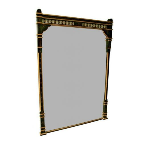 19th century ebonized and gilt Aesthetic Movement overmantel/pier mirror