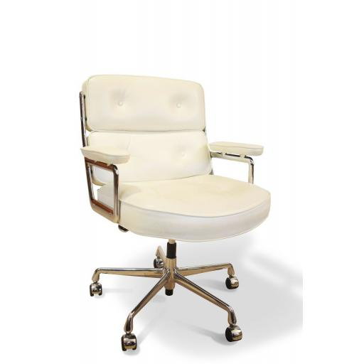 Eames Office chair ES 104 Lobby chair Vitra in white leather
