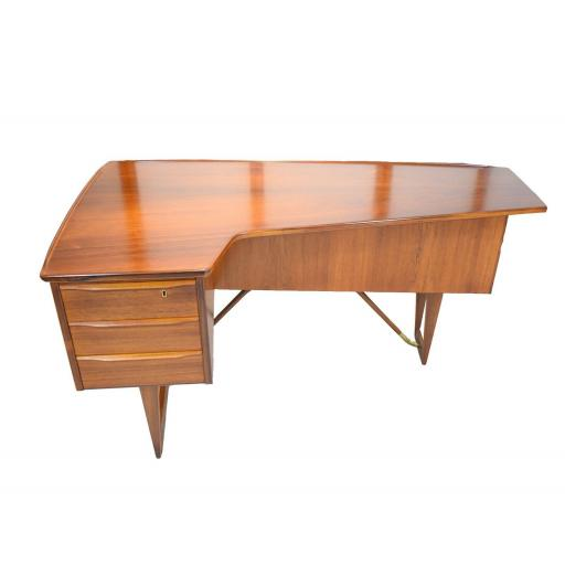 "Mid 20th century Rosewood ""Boomerang"" Desk by Peter Løvig Nielsen Danish"