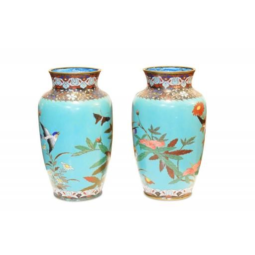 Pair of 19th century Japanese cloisonné vases - SOLD