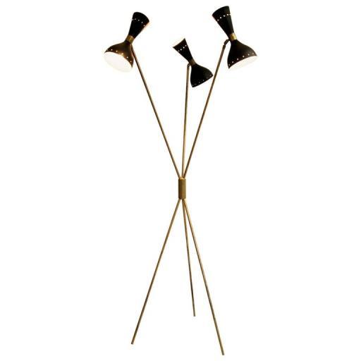 Italian Stilnovo Floor lamp brass mid century modern