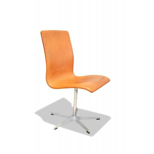 Arne Jacobsen Oxford Chair by Fritz Hansen Denmark Tan Leather