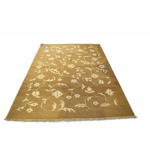 Vintage handwoven Cactus silk throw/ rug