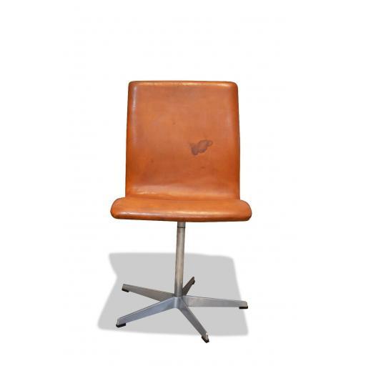Arne Jacobsen Oxford Chair by Fritz Hansen Denmark Tan Leather - SOLD