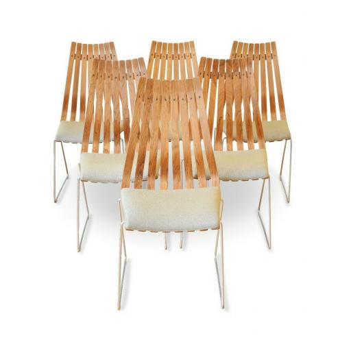 Scandinavian Modern Rosewood Dining Chairs by Hans Brattrud, set of Six - SOLD