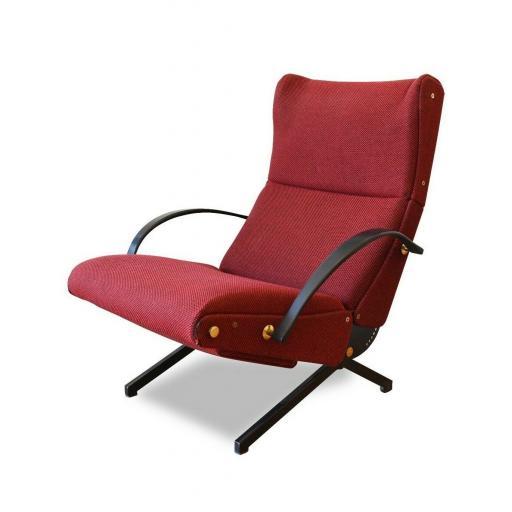 Vintage Osvaldo Borsani P40 Chaise Lounge Chair for Tecno Italian design