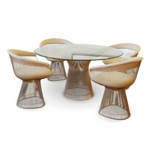 Warren Platner dining table and four Platner armchairs for Knoll international - SOLD