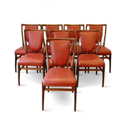 Andrew J. Milne set of 8 rosewood dining chairs 1950's