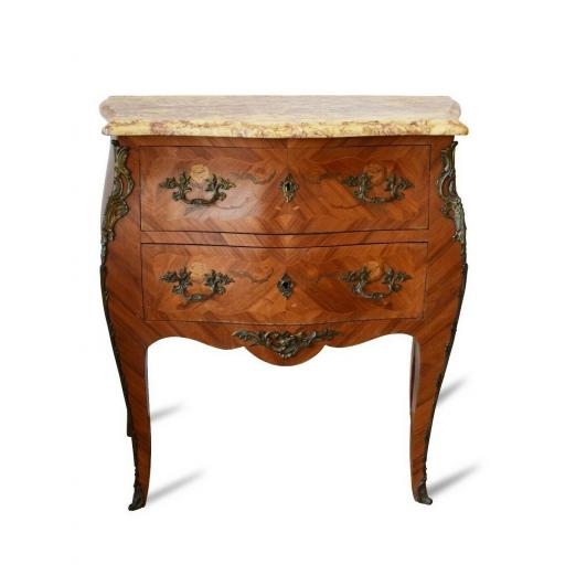 1920s French chest of drawers with marble top - SOLD