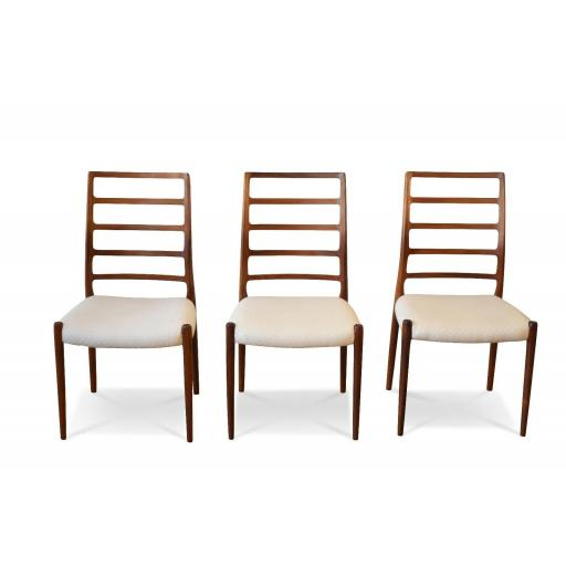 Set of 6 Neils Otto Moller Dining chairs model number 82