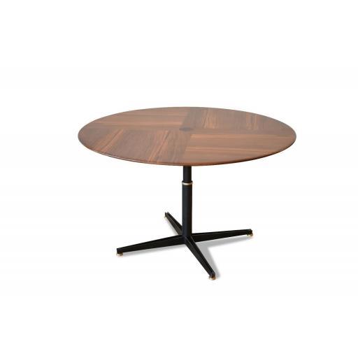 Oswaldo Borsani for Tecno Adjustable Rosewood Dining/Coffee Table