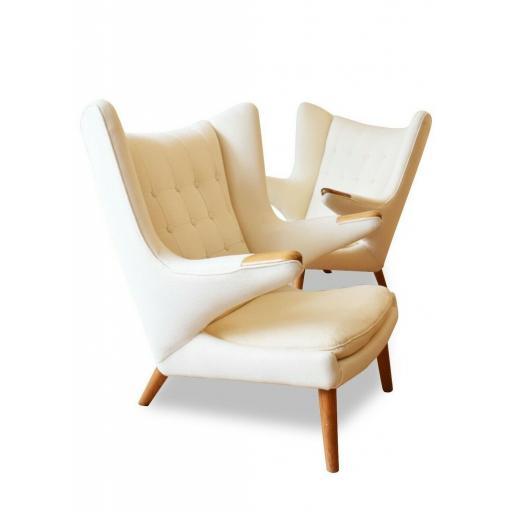 Pair of Model AP-19 Papa Bear Oak Chairs by Hans J. Wegner for A.P. Stolen, 195