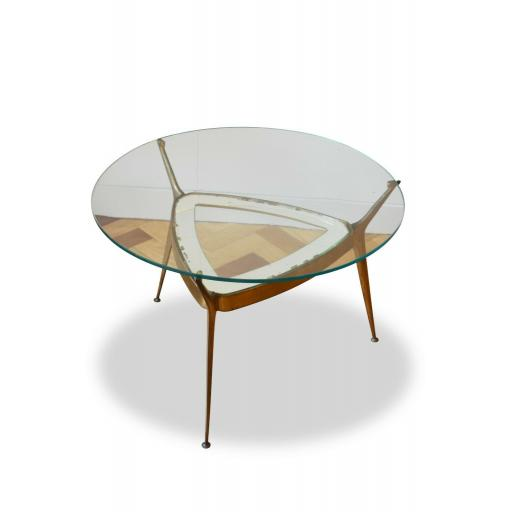 Italian 1950s Brass, Glass Occasional Side/Coffee Table
