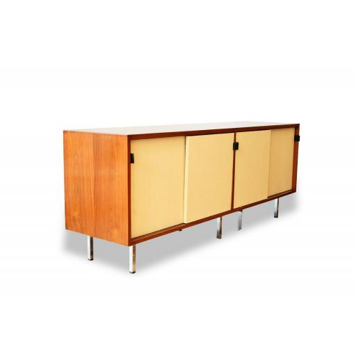Florence Knoll Teak Wood & Seagrass Sideboard - SOLD