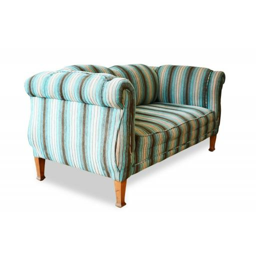 Italian Stripe Two Seater Sofa/Settee