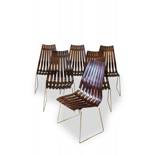 Set of 6 Hans Brattrud Scandia Dining Chairs
