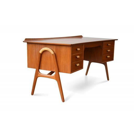 Mid-Century Danish Teak Desk by Svend Åge Madsen for Sigurd Hansen, 1950s