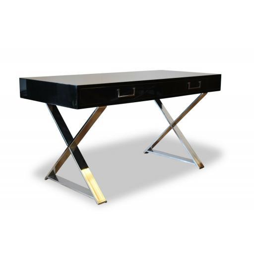 1970's Milo Baughman Campaign Desk/Console/Dressing table