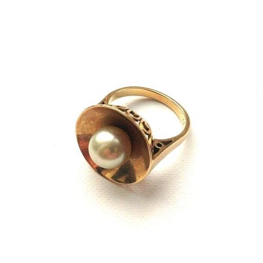 14ct Gold Pearl Statement Ring