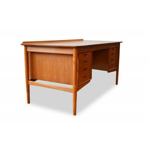 1960s Danish Teakwood Desk by Arne Vodder